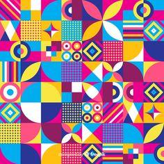Mosaic background with colorful geometric shapes Geometric Patterns, Geometric Graphic Design, Mosaic Patterns, Graphic Patterns, Geometric Art, Textures Patterns, Geometric Designs, Pattern Drawing, Pattern Art