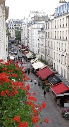 Rue Cler view Paris France - great place to sit at a cafe and watch the world go by. Paris 3, Paris Love, Paris City, Oh The Places You'll Go, Places To Travel, Places To Visit, Time Travel, Paris Travel, France Travel