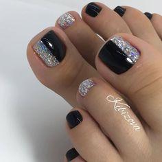 Pretty Toe Nails, Cute Toe Nails, Fancy Nails, Gorgeous Nails, Gel Toe Nails, Feet Nails, Toe Nail Art, Gel Toes, Feet Nail Design