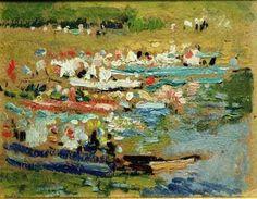Barcas en la playa, San Sebastián. 1917-18