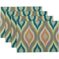 "Better Homes and Gardens Ogee 14"" x 19"" Placemats, Set of 4"