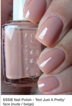 I need this nail polish simply because of the name! 🙂 ESSIE Nail Polish – 'Not Just A Pretty' face I need this nail polish simply because of the name! 🙂 ESSIE Nail Polish – 'Not Just A Pretty' face Neutral Nail Color, Fall Nail Colors, Neutral Nail Polish, Neutral Tones, Gel Nail Polish Colors, Essie Nail Colors, Manicure Colors, Best Nail Polish, Hair Colors