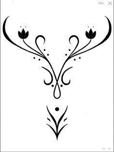 Stencils for Anna's bodice