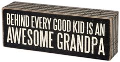 | Box Sign - Awesome Grandpa |