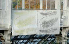 Fern from The Royal Botanic Gardens Kew Textile Collection by IVO Prints     Created from an archival 'Nature Print' - the original design document was created by inking the leaf itself to print the plant reference    www.ivo.co.uk