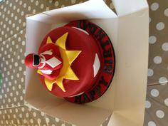 Power Ranger Cake Power Ranger Cupcakes, Power Ranger Cake, Power Ranger Party, 6th Birthday Cakes, 6th Birthday Parties, Sweets Cake, Cupcake Cakes, Fun Cakes, Royal Blue Cake