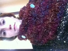 Handmade crochet cowl The buttons are hard to see in this but they are a baby teal color