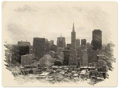 San Francisco Skyline Digital Art