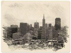 San Francisco Skyline Digital Art