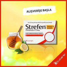 """Strefen Limon&Bal özlü pastil en uygun fiyatı ile BuEczane'de! Eczacıların ilk en büyük ve en karlı alışveriş platformu : BuEczane.com """"5 Bin eczacımız yanılıyor olamaz""""  #eczane #eczacılık #bueczane #bueczanebiharikadostum #strefenhoneylemon #strefen #honey #lemon"""