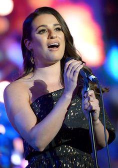 Lea performing at The Grove Christmas with Seth MacFarlane