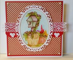 Art Impressions: Wonderful Water Color ... Wooden Barrel (Sku#F1730) Blooming Birdhouse (Sku#4603) ... handmade watercolor card with flowers.