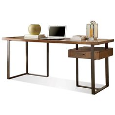 Colton Writing Desk with Return