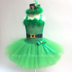 A personal favorite from my Etsy shop https://www.etsy.com/listing/262312882/leprechaun-costume-dress-tutu-3pc-set-w