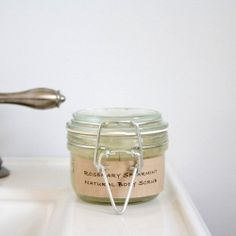 Create a natural body scrub that is truly invigorating. Perfect for gift giving!  Recipe complete with free printables.