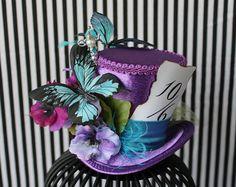 Chapeau Mauve, Mini Chapeau pour Marriage, Mini Chapeau Mauve, Petit Chapeau , Accessoire à Cheveux , Fascinator Mauve
