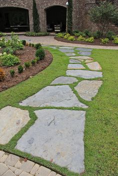 raised beds on a slope # - easy garden paths & raised beds on a slope Backyard Walkway, No Grass Backyard, Outdoor Walkway, Backyard Landscaping, Garden Arbor, Easy Garden, Garden Paths, Flagstone Pathway, Stone Walkway