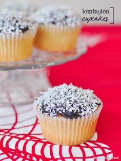 Cupcake Recipes : Lamington Cupcakes & Chocolate Fudge Glaze