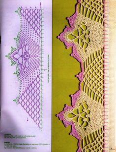 Borte Spitze häkeln - crochet border edging - barradinhos