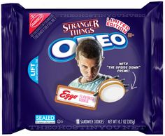 """Stranger Things Eggo Oreos """"Oreo has been going wild with limited edition flavors as of late, but what if they made horror movie-themed cookies? Billy Polard put together a bunch of clever mock-ups for Dread Central."""""""