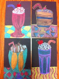 Drip, Drip, Splatter Splash- Wayne Thiebaud Milkshakes