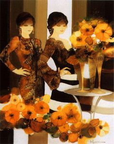 Joel Rougie 1957 | French Fashion painter | Tutt'Art@ | Pittura * Scultura * Poesia * Musica |