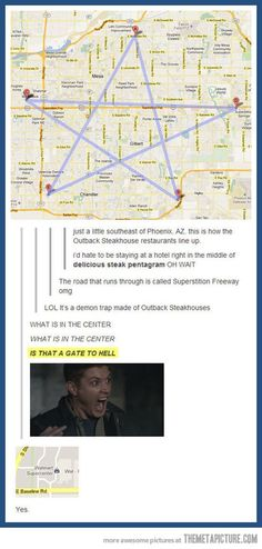 For The Supernatural Fans <----I don't even watch that show nor understand the reference and I find this hilarious. My Tumblr, Tumblr Funny, Funny Memes, Hilarious, Memes Humor, Destiel, Sam E Dean Winchester, Demon Trap, Emmanuelle Vaugier