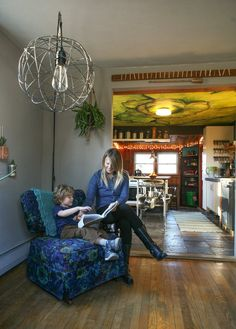 Jill & Dan's Lighthearted Home. Absolutely love this house. Great use of space and unexpected paint colors!