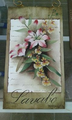 Stencil Painting, Fabric Painting, Stenciling, Scrap, Lily, Craft Box, Wooden Crafts, Wood Paintings, Wood Art