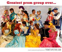 Fairy tale prom group… I can't believe that many high school boys were willing to go along with this. . .