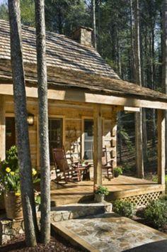Small cabin. Really digging small homes/cabins