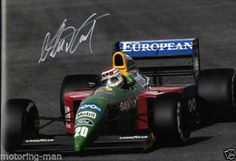 NELSON-PIQUET-SIGNED-AUTOGRAPHED-PERIOD-PHOTOGRAPH-BENETTON-WITH-CERTIFICATE Formula 1 Car, Nascar Racing, Indy Cars, Car And Driver, Benetton, Grand Prix, Cars Motorcycles, Race Cars, Pilot