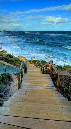 beach stairs...