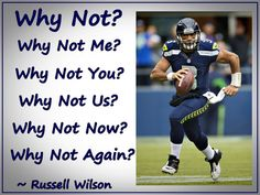 Quote Poster Russell Wilson Seattle Seahawks Photo Quote Wall Art Print Why Not - Free USA Shipping Wall Art Quotes, Quote Wall, Russell Wilson, Photo Quotes, Seattle Seahawks, Quote Posters, Baseball Cards, Sports, Art Print