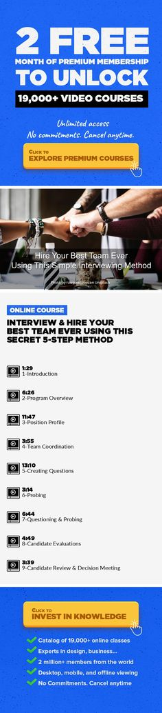 Interview & Hire Your Best Team Ever Using This Secret 5-Step Method Business, Human Resources, Management, Hiring, Interviewing, Team Building, Career Development, Interview Questions #onlinecourses #onlinedegreepeople #onlinebusinessideas    Use this simple 5-step method to hire the best people for your team every time. These videos show you exactly what to do, so you hire the best talent every ...