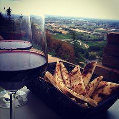 Piadina con vista a Bertinoro - Instagram by _adelicious