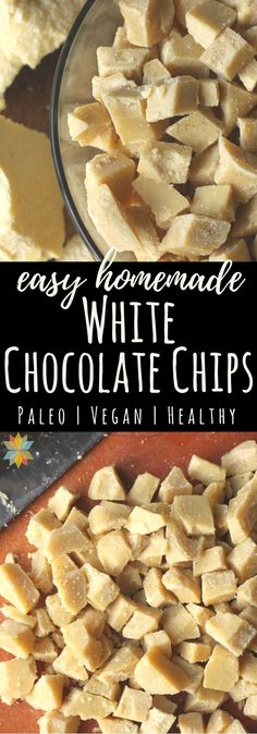 These Vegan White Chocolate Chips are easy to make, loaded with wholesome ingredients, and are dairy, soy, and sugar-free and THM:S! via @wholenewmom