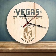 new arrival d2c0c 62add Items similar to Vegas Golden Knights clock, NHL Hockey, Las Vegas, Wood  Clock, Gifts for Her, Gifts for Him, Golden Knights on Etsy
