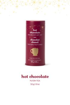 Hot Chocolate Skinny Tin - A rich and fudgy blend of pu'erh, black tea, cocoa nibs and chocolate.