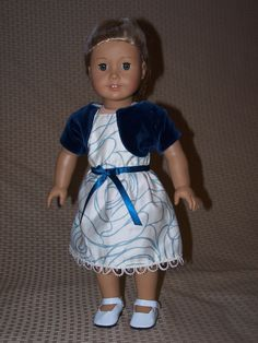 """18"""" Doll Clothes: Dress with Jacket and Shoes outfit for American Girl by ICImagination on Etsy"""