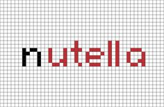 Nutella Pixel Art Pixel Art Minecraft, Minecraft Designs, Pixel Art Nutella, Beaded Cross Stitch, Cross Stitch Patterns, Pixel Art Logo, Loom Beading, Beading Patterns, Image Pixel Art