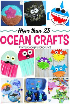 Are you looking for something fun for your kids to do this summer? How about making one of these fun ocean crafts for kids! #homeschoolprek #oceancrafts #kidscrafts #oceantheme #preschooloceantheme   https://homeschoolpreschool.net/ocean-themed-crafts-for-preschool/