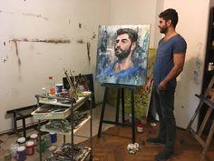 The portrait of a Good friend Portrait, Painting, Art