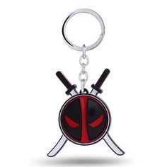 MS Key Chain Deadpool Key Rings For Gift Chaveiro Car Keychain Jewelry Movie Key Holder Souvenir