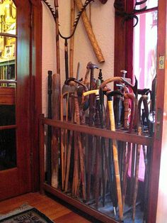 I collect antique walking canes Walking Stick With Seat, Walking Sticks And Canes, Painted Trash Cans, Cane Sword, Raising Canes, Walking Staff, Cane Handles, Cane Stick, English Country Style