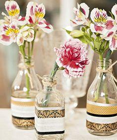 Que tal um vasinho customizado? Garrafas Ideia Única (quadrada) e Shopfesta