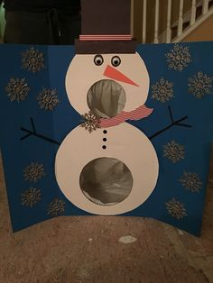 Made snowman ball toss! I'm so pleased with myself and my glue gue