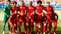 Belgium pose for a team photo prior to the 2014 FIFA World Cup Brazil Quarter Final match between Argentina and Belgium at Estadio Nacional on July 5, 2014 in Brasilia, Brazil.