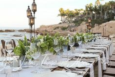 Organic and elegant wedding décor on the beach of the One & Only Palmilla in Los Cabos!