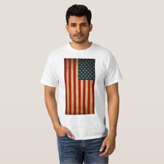 AMERICAN VINTAGE FLAG T-Shirt - personalize cyo diy design unique